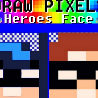 Draw Pixels Heroes Face