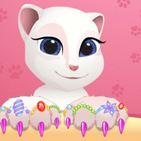 Talking Tom  Angela Great Manicure